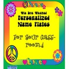 Tie Dye Themed Personalized Classroom Tags