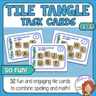 Tile Tangle Task Cards! Engaging Word Game with Differenti