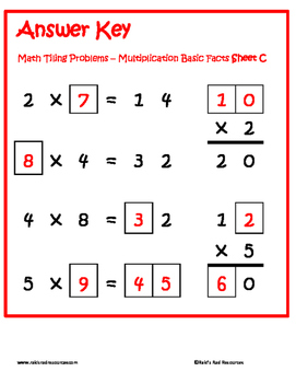 Tiling - Basic Multiplication Fact Puzzles
