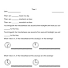 Time:  Elapsed Time Worksheets