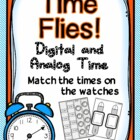 Time Flies! Analog/Digital Time-hour, half, quarter, 5 min