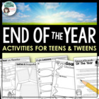 Time Flies - End of Year Literacy Activities