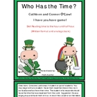 Time (Hour and Half Hour) St. Patricks Day Theme