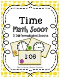 Time Math Scoot- 3 Differentiated Scoots