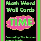 Time Math Word Wall Cards
