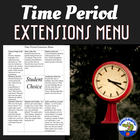 Time Period Extension Menu