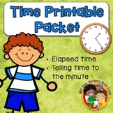 Time Printable Pack - 3rd Grade Common Core 3.MD.A.1