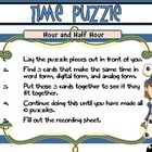 Time Puzzle with Recording Sheet