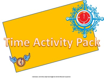 Time Support Activity Packet for Teachers