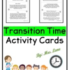 Time Travel/Transition Activities