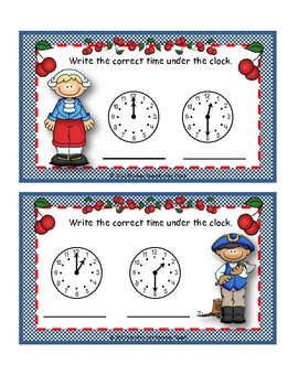 Time What time is it? ( Presidents Day Theme)