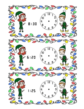 Time for Elves (Telling Time Activity)