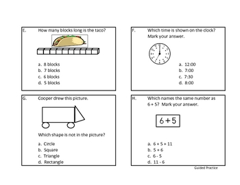 Time to Spiral Through First Grade Math-Sixth 6 Weeks