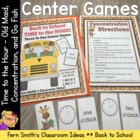Time to the Hour Back to School Center Game Concentration,