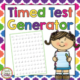 Timed Test Generator: For Addition, Subtraction, and Multi