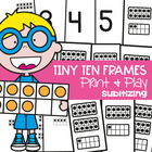 Tiny Ten Frames - Math Center Activity/Games - Representin