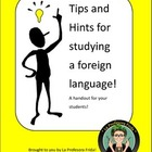 Tips and Hints for Studying Spanish Handout