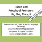 Tissue Box Preschool Pronouns
