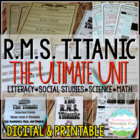 Titanic Bundle Pack (Tickets, PowerPoint, Quiz, Choice Boa