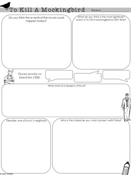 """To Kill A Mockingbird"" Chapter Response Graphic Organizers"