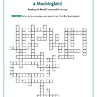 To Kill a Mockingbird: 4 Reading-for-Detail Crosswords--Unique!
