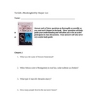 To Kill a Mockingbird Chapter by Chapter Questions