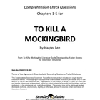 To Kill a Mockingbird Chapters 1-5 Study Guide Questions