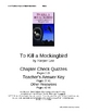 &quot;To Kill a Mockingbird&quot; Check Questions w/Key, Chapters 1-