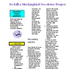 To Kill a Mockingbird Newsletter Project Handout
