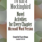 To Kill a Mockingbird Novel Activities for Every Chapter-W