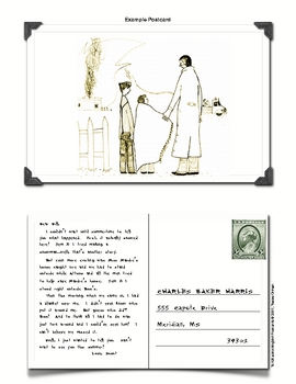 """To Kill a Mockingbird"" Postcard Character Writing Activity"