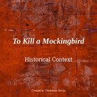 To Kill a Mockingbird Pre-Reading Historical Background  PP