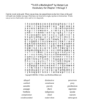 To Kill a Mockingbird Word Search 