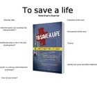 To Save a Life Movie Graphic Organizer - Great for End of Year!
