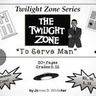 To Serve Man Twilight Zone Episode Unit Resource Common Core
