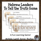 """To Tell the Truth"" Game Role Cards on Hebrew Leaders - Hebrews"