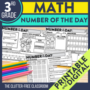 Today's Number / Number of the Day 3rd Grade Common Core Daily Math Review