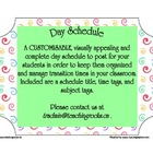 Today&#039;s Plan ~ A Day Schedule to post for students (Swirls)
