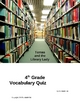 Tomas and the Library Lady Vocabulary Quiz