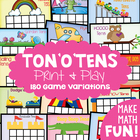 Ten Frames - Tons o Tens - 180 FUN Game Combinations