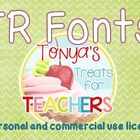 Tonya's Treats for Teachers FONTS