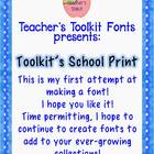 Toolkit&#039;s School Print Font Commercial Use OK