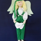 Tooth Dude (Fairy) - Green Outfit with Blond Hair