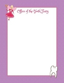 Tooth Fairy Notepaper for kids who lose a tooth at school