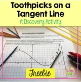 Toothpicks on a Tangent Line