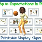 The Top 10 Expectations in PE - Printable Display Signs