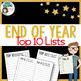 """Top 10 Lists"" for Year End / Review - FREE!"
