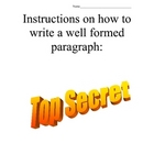 Top Secret Writing Document: Paragraph writing skills
