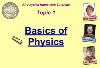 Topic 1 Physics Homework Tutorial Vodcasts
