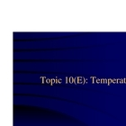 Topic 10 - Temperature